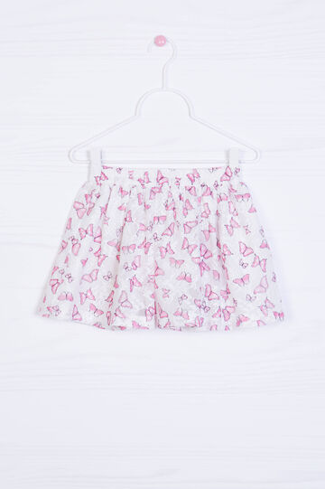 Skirt with all-over butterfly print