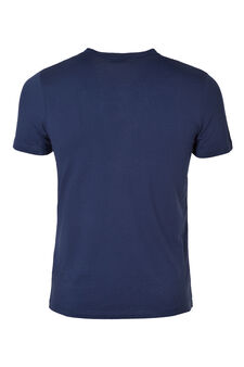 V neck underwear T-shirt, Blue, hi-res