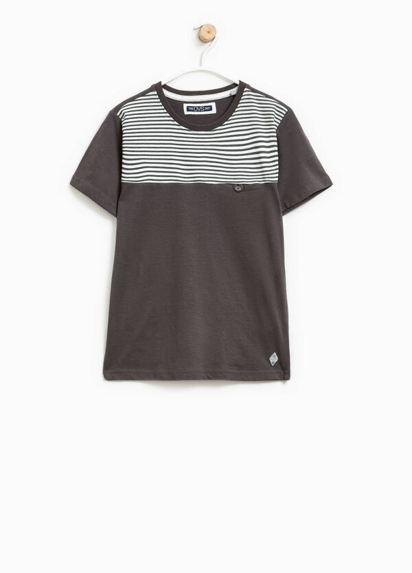 Striped T-shirt with pocket | OVS