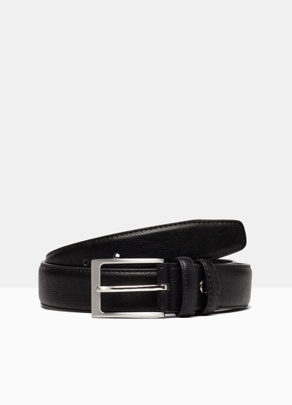 Leather look belt with square buckle | OVS
