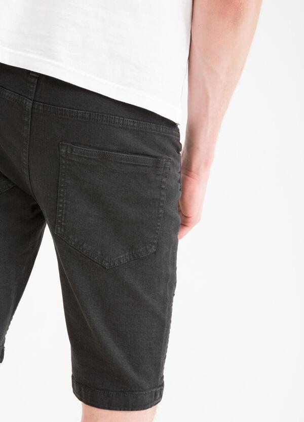 5-pocket stretch denim Bermuda shorts | OVS