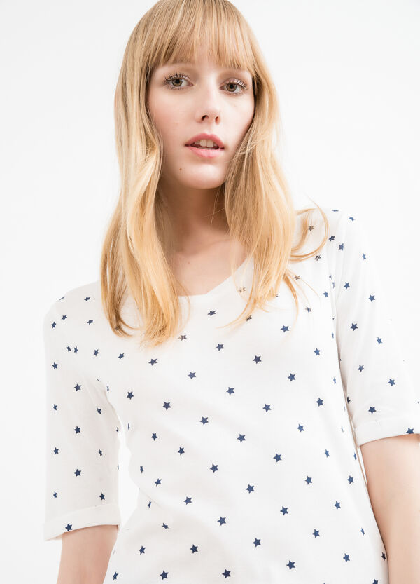 T-shirt puro cotone fantasia a stelle | OVS