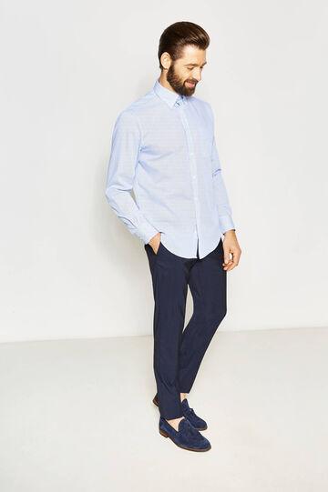 Regular-fit micro-check formal shirt