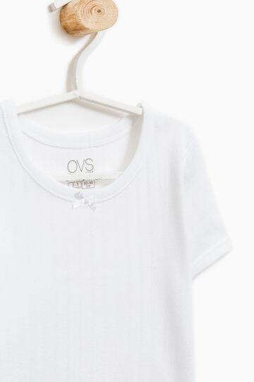 T-shirt intima puro cotone con costina