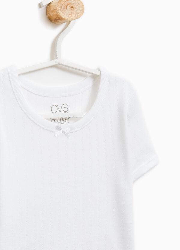 T-shirt intima puro cotone con costina | OVS