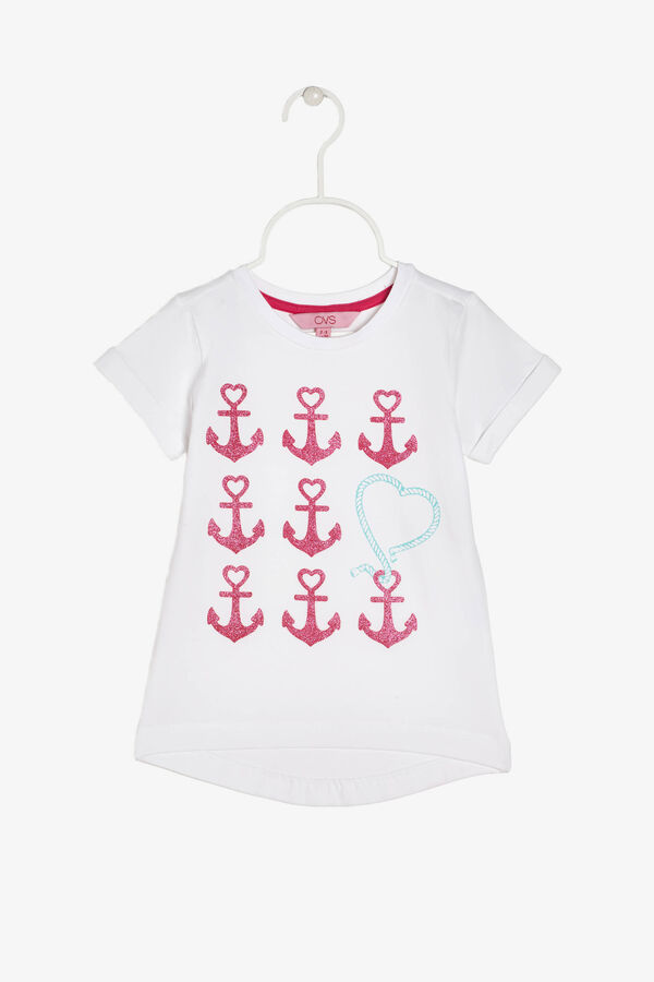 T-shirt with print and glitter | OVS