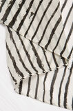 Scarf with striped print, White/Black, hi-res
