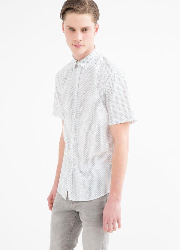 Camicia misto cotone con pois e fiori | OVS
