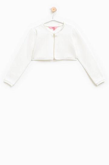 Coprispalle in cotone stretch, Bianco, hi-res