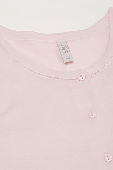 Nightshirt with lace and bow, Pink, hi-res