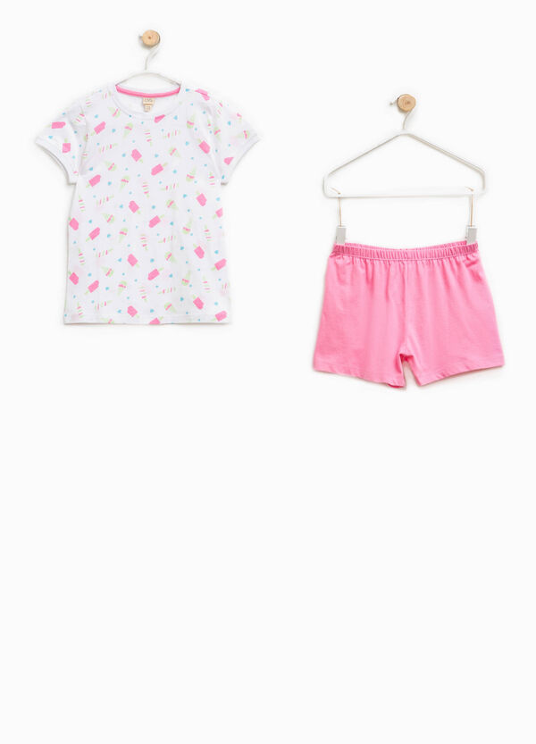 Pigiama 100% Biocotton t-shirt e shorts | OVS