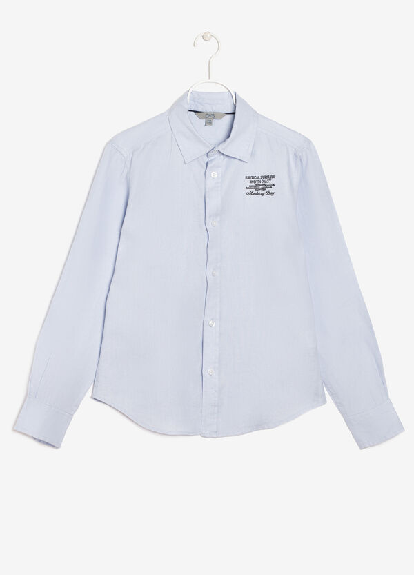 Linen shirt with writing | OVS