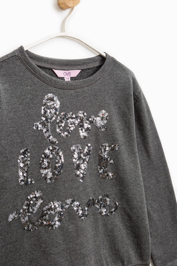 Sequinned sweatshirt in 100% cotton | OVS