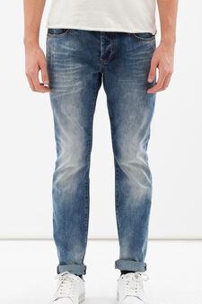 Worn-effect jeans, Dark Wash, hi-res