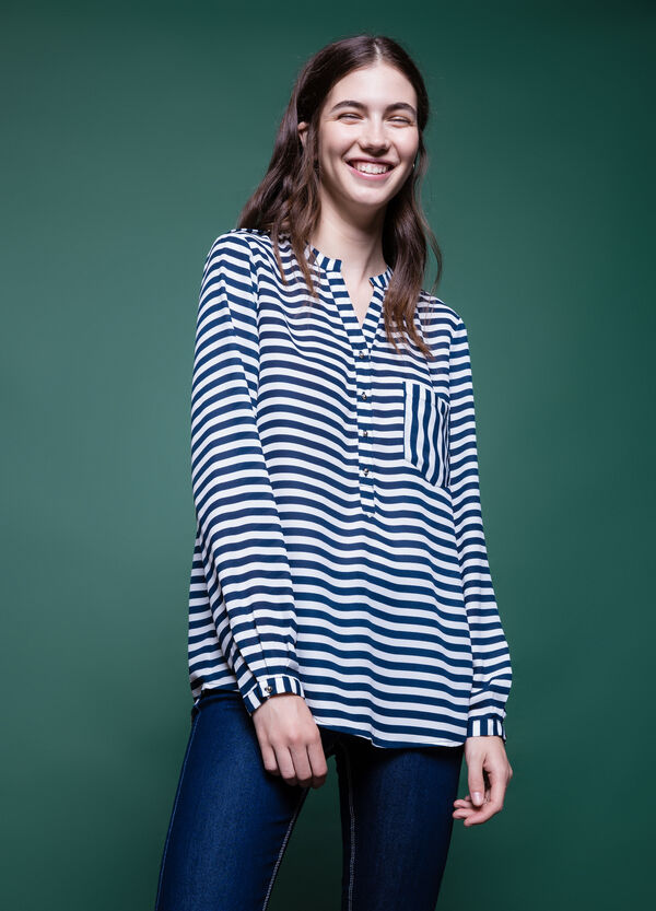 Striped blouse with long sleeves | OVS