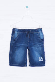 Shorts di jeans con coulisse, Blu scuro, hi-res