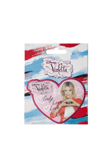 Violetta cotton iron-on patch, Pink, hi-res