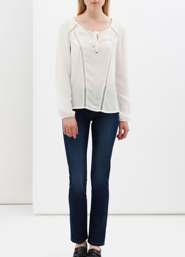 Blouse with lace details | OVS