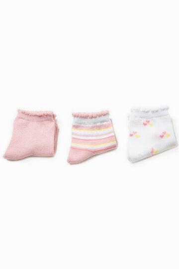 Set tre paia di calze unito e fantasia, Multicolor, hi-res