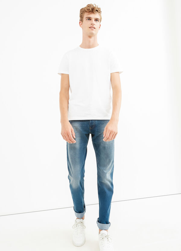 Jeans comfort fit stretch effetto used | OVS