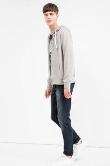 Cotton blend hoodie., Grey Marl, hi-res