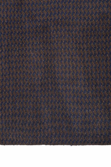 Knitted scarf with geometric pattern., Dark Brown, hi-res