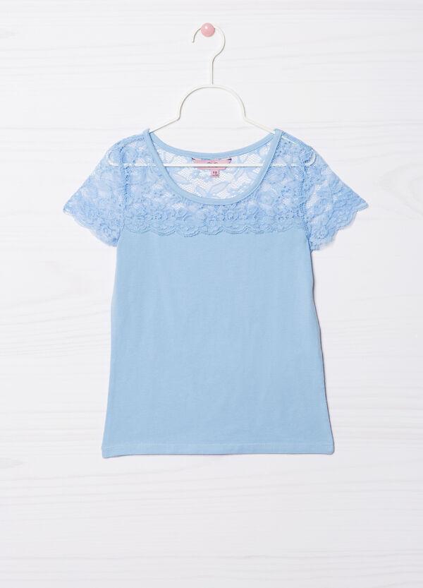 T-shirt cotone stretch inserto pizzo | OVS