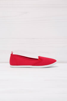 Solid colour slip-ons, Red, hi-res