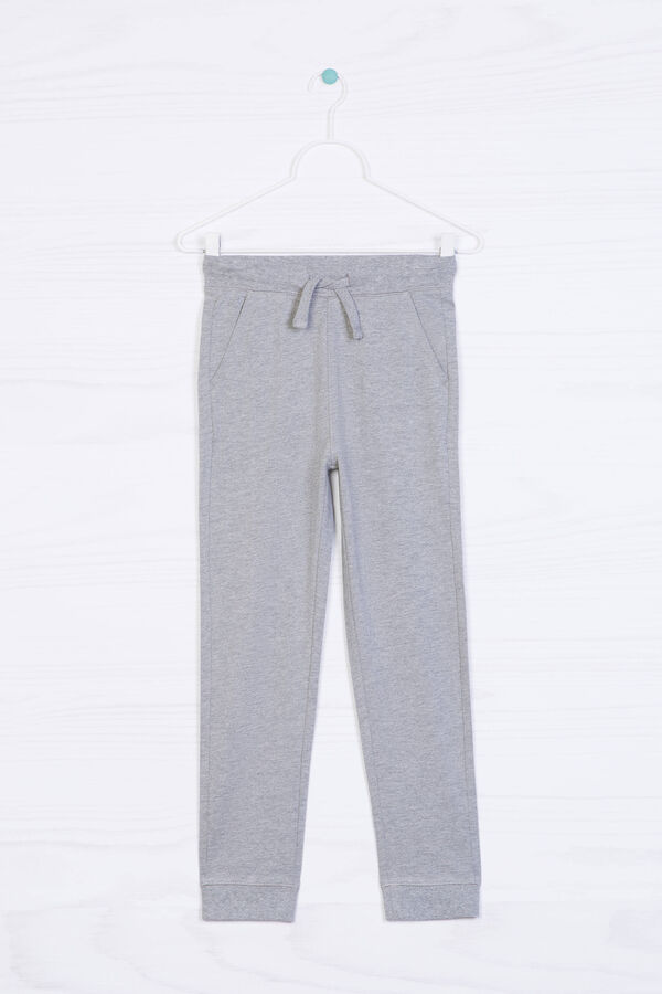 Solid colour 100% cotton joggers | OVS