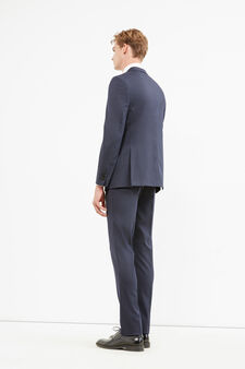 Elegant regular-fit viscose suit, Blue, hi-res