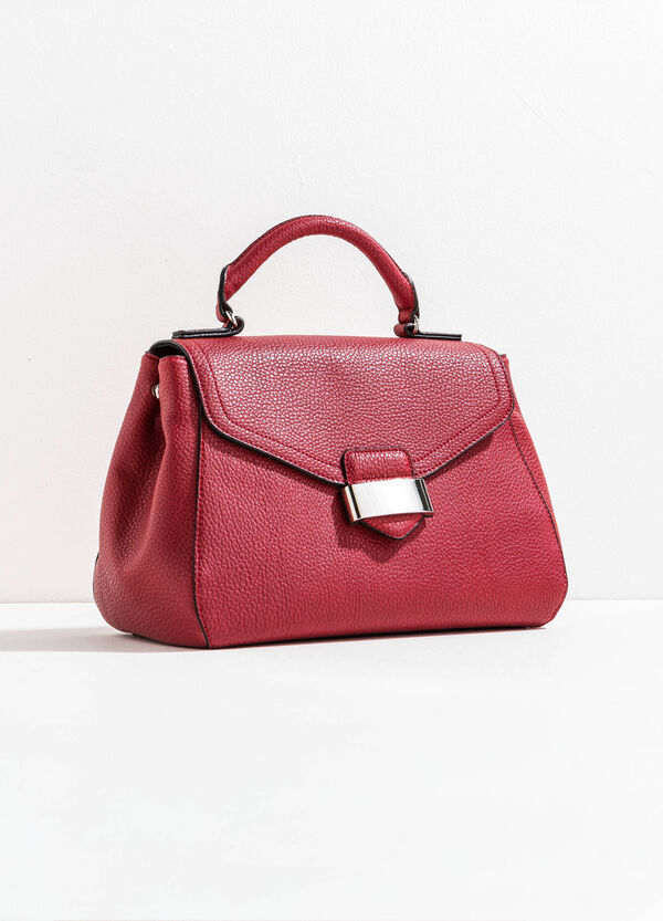 Textured-effect bag with flap | OVS