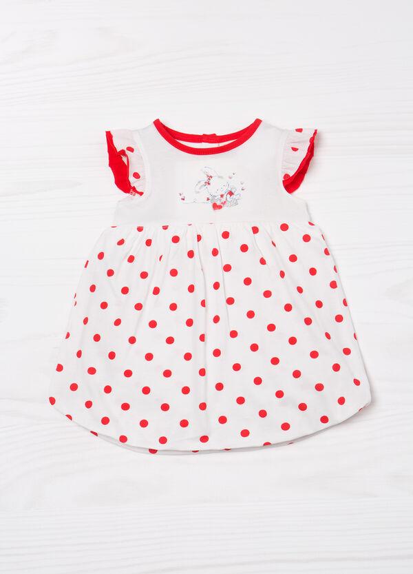 Cotton polka dot playsuit | OVS