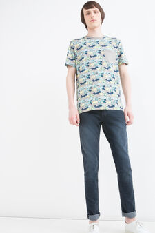 G&H 100% cotton patterned T-shirt, Grey, hi-res