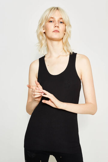 100% cotton ribbed top