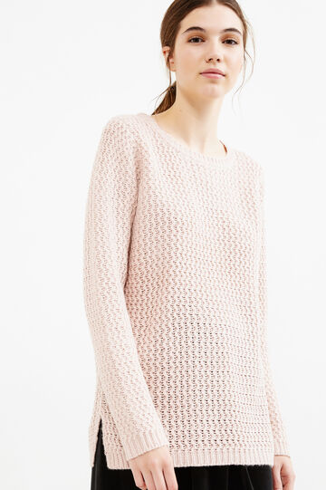 Chunky knit pullover, Pink, hi-res
