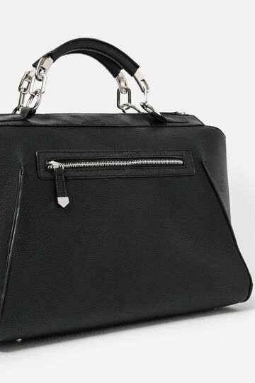 Handbag with chain, Black, hi-res