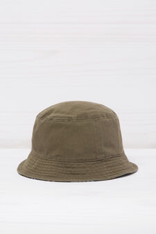 Fishing hat in cotton., Green, hi-res