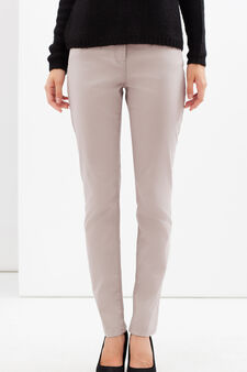 Polka dot stretch trousers, Grey, hi-res