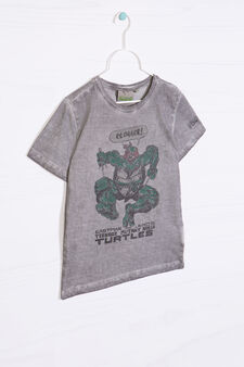 Teenage Mutant Ninja Turtle print cotton T-shirt, Grey, hi-res