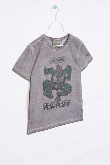 Teenage Mutant Ninja Turtle print cotton T-shirt, Grey, hi-res