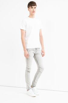 Faded-effect super skinny fit jeans, Grey, hi-res