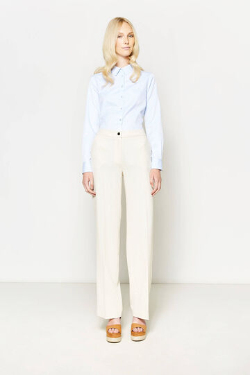 Trousers with crease, Beige, hi-res