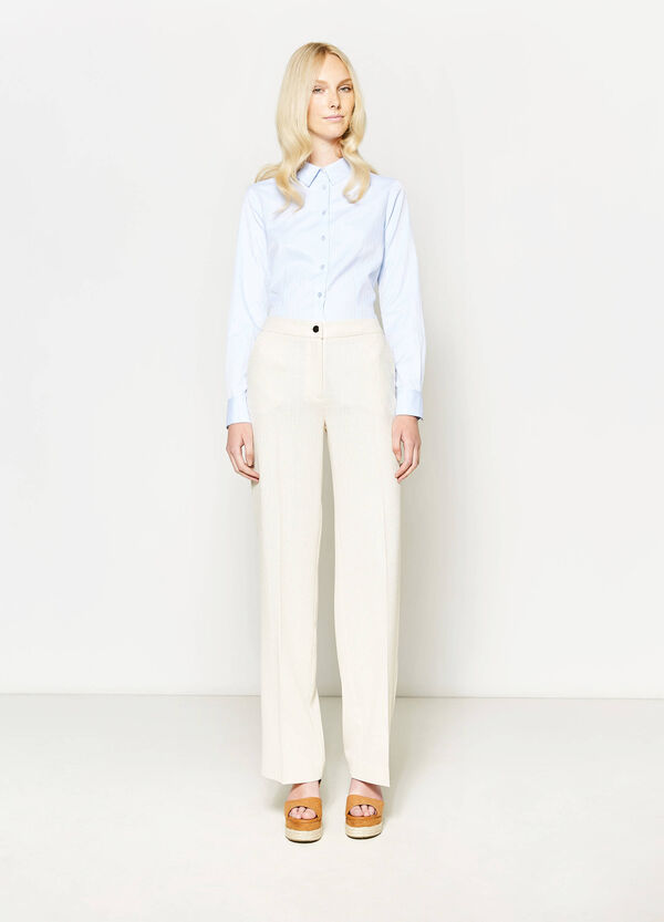 Trousers with crease | OVS