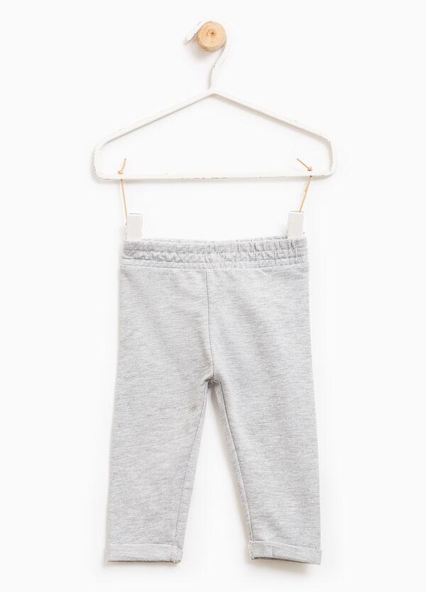 Pantalón de chándal en mezcla de algodón en color liso | OVS