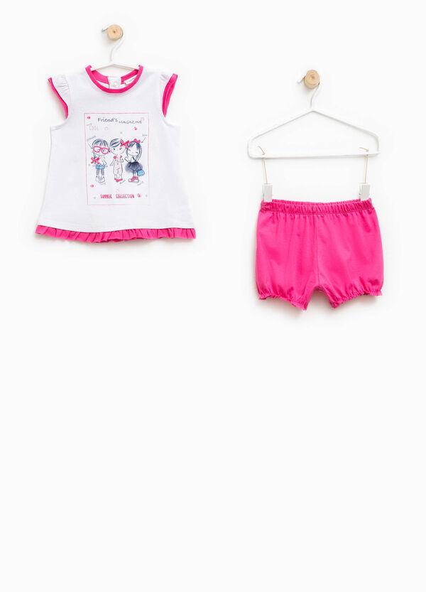 Pijama de camiseta y shorts con lacitos | OVS