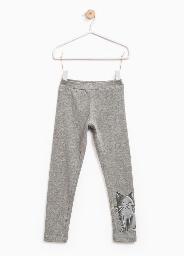 Leggings cotone stretch stampati | OVS
