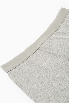 Five-pack solid colour boxer shorts, Grey Marl, hi-res