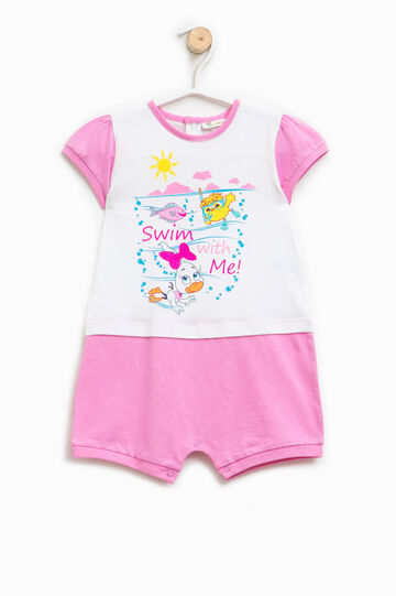 Printed two-tone sleepsuit