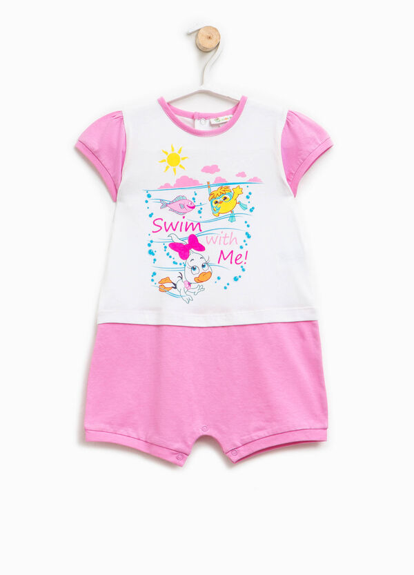 Printed two-tone sleepsuit | OVS