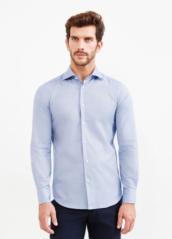Camicia formale slim fit micro fantasia | OVS